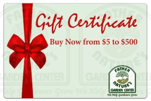 Father Nature Gift Certificate