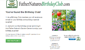 SIGN UP FOR BIRTHDAY CLUB